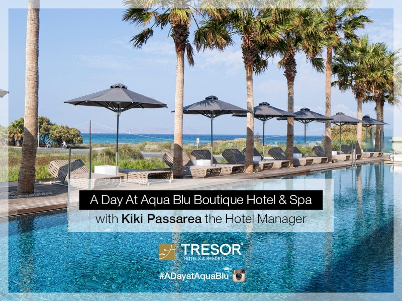 A day at aqua blu boutique hotel spa in kos with the for Design boutique hotel kos