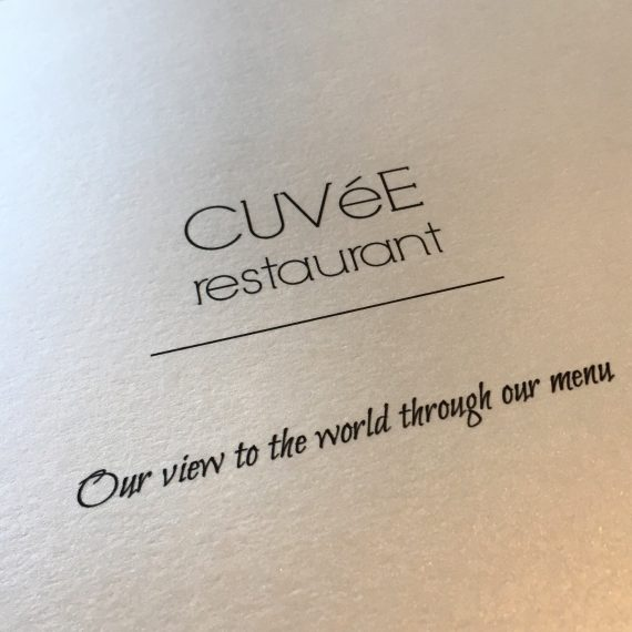 "Cuvée, ""Our view to the world through our menu"""